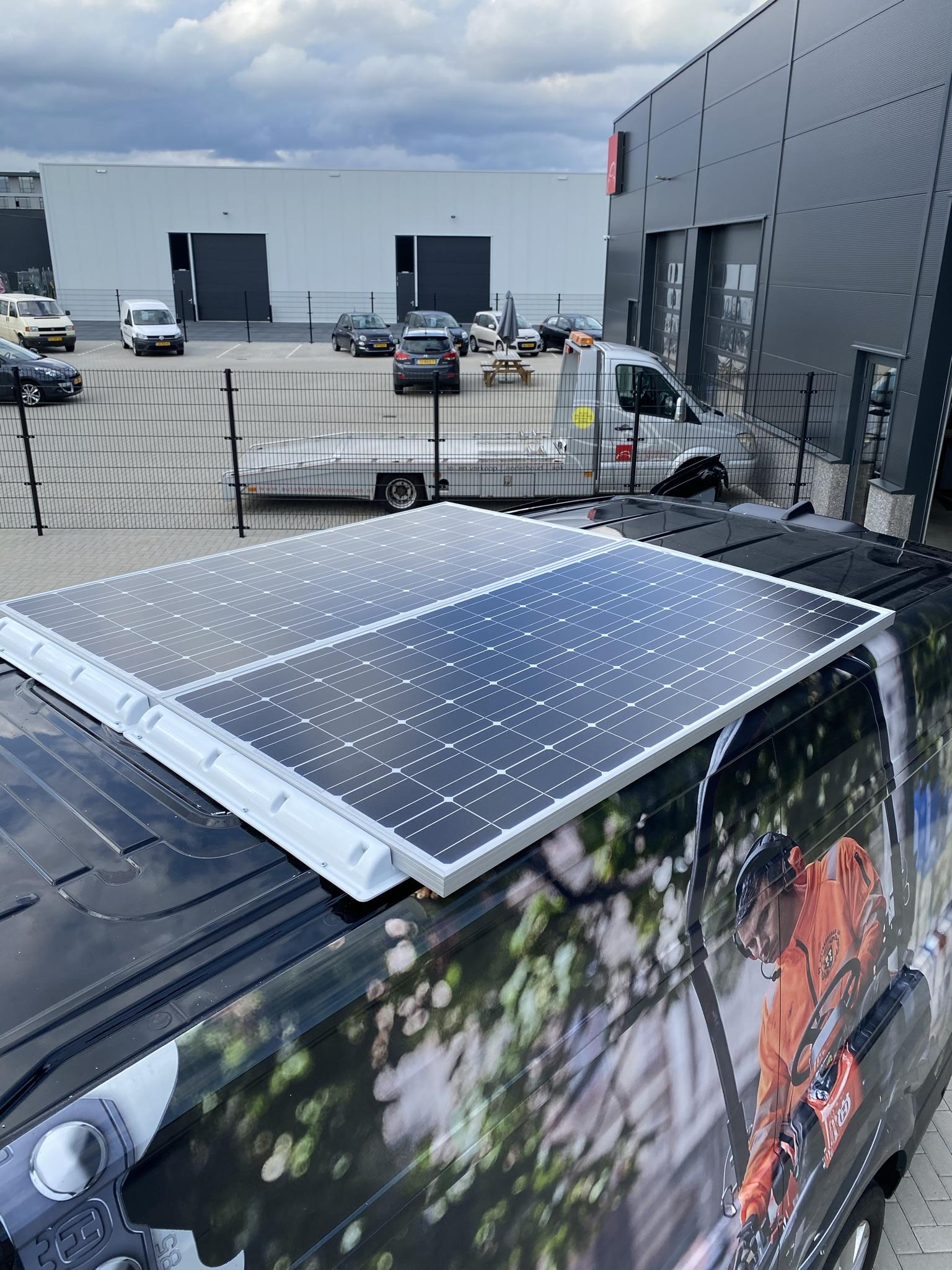 stroom elektrische auto